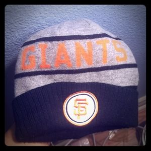 Giants Mitchell and ness beanie